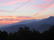 Smoky mountain sunrise view from 2 bedroom rent by owner chalet